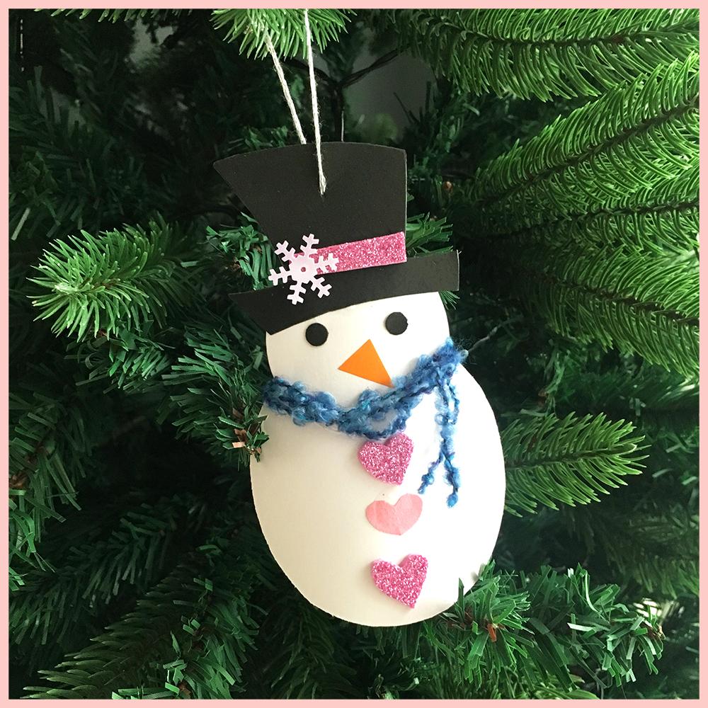 Cardboard Snowman Ornament