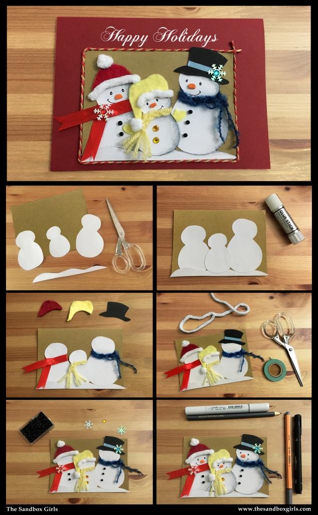Snowman Family card